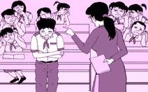 Khi cô giáo im lặng, cả lớp ở đâu, làm gì?