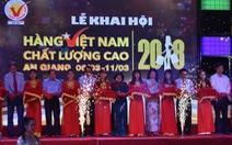 Hội chợ Hàng Việt Nam chất lượng cao khai mạc ở Long Xuyên