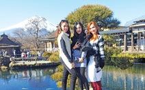 Vừa ngắm tuyết rơi, vừa ngắm anh đào ở Nhật