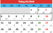 Đề xuất hoán đổi ngày làm để Tết Nguyên đán 2019 nghỉ 9 ngày