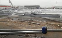 Nhà xưởng 5.000 mét vuông đổ sập trong Khu công nghiệp Tràng Duệ