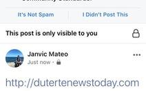 Facebook chặn trang web thân tổng thống Philippines để ngăn tin giả