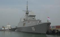 Khu trục hạm Hải quân Singapore cập cảng Tiên Sa