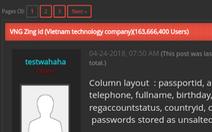 Lộ thông tin hàng trăm triệu tài khoản khách hàng, VNG xin lỗi