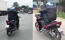 Thót tim cảnh nam thanh niên lái xe máy tốc độ cao… bằng chân