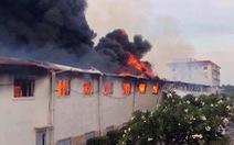 Cháy lớn tại nhà máy dệt sợi ở Khu công nghiệp Long Giang