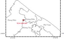 Động đất 2,5 độ richter ở Thừa Thiên - Huế