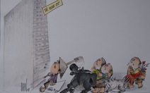 Cười đời, đời cười ở loạt tranh biếm họa cúp Rồng Tre