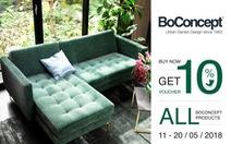 BoConcept tặng voucher 10% tất cả sản phẩm nội thất và trang trí