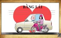 Những trái tim trên bằng lái xe