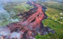 Video nham thạch chảy thành sông đổ ra Thái Bình Dương ở Hawaii