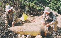 Hủy nổ tại chỗ quả đạn pháo nặng gần 1 tấn