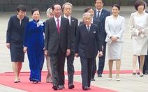 Nhà vua Nhật Bản đón Chủ tịch nước Trần Đại Quang ở hoàng cung