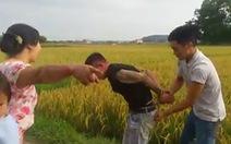 Triệu tập 4 người làm rõ vụ 'bảo kê' máy gặt lúa
