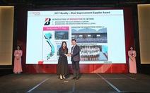 """Bridgestone Việt Nam đạt danh hiệu """"Nhà cung cấp chất lượng của năm 2017"""""""