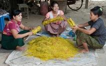 Ngạc nhiên với kỹ thuật làm dây thun thủ công của người Myanmar
