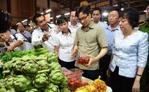 Phó thủ tướng thị sát chợ đầu mối lớn nhất nước lúc rạng sáng