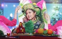 Nữ sinh Học viện Ngoại giao khoe tài trong chung kết Hoa khôi