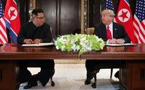 Video ông Donald Trump và Kim Jong Un ký thỏa thuận lịch sử