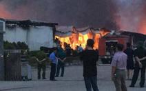 Cháy trong khu công nghiệp ở Phú Thọ, 3 nhà xưởng bị thiêu rụi