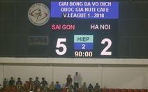 Đội đầu bảng Hà Nội thảm bại khó tin trên sân Thống Nhất