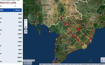 Ra mắt bản đồ theo dõi sạt lở ở đồng bằng sông Cửu Long