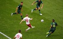 Đan Mạch - Úc 1-1: Thêm một quả 11m từ công nghệ VAR