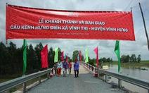 Nhịp cầu nối những niềm vui cho xã Vĩnh Trị, huyện Vĩnh Hưng, Long An
