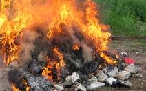 Thiêu hủy gần 600 bánh heroin liên quan tử tù trốn trại Nguyễn Văn Tình