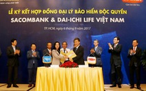 Hợp tác bancassurance Sacombank và Dai-ichi Life VN vượt kỳ vọng