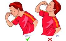 Làm gì khi chảy máu mũi?