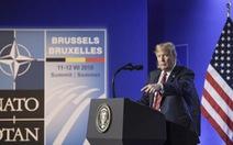Ông Trump ca ngợi chiến thắng trước các đồng minh NATO