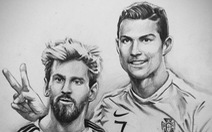 9X vẽ tranh cầu thủ World Cup đầy thần thái