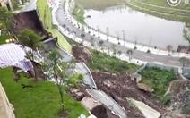 Video đường ở Trung Quốc sụp đổ kinh hoàng