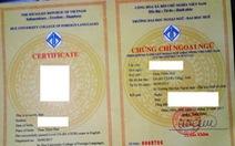 Nhập nhằng cấp chứng chỉ ngoại ngữ B1 vì từ 'certificate'