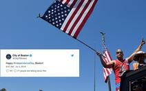 Twitter sai chính tả trong mã chủ đề mừng quốc khánh Mỹ