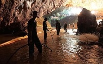 Mưa lớn tại hang Tham Luang, cứu hộ Thái Lan chạy đua với thời gian