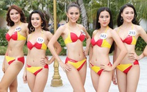 Thí sinh Hoa hậu Hoàn vũ VN trình diễn bikini nóng bỏng