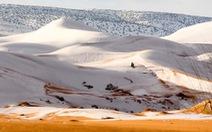 Video tuyết phủ đầy sa mạc nóng nhất thế giới
