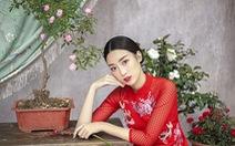 Hoa hậu Đỗ Mỹ Linh hoá 'nàng tiên hoa' ngày Tết