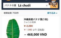 Du học sinh nói gì về lá chuối 500.000 đồng trên Amazon Nhật?