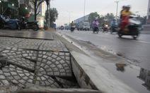 Vỉa hè 'đường APEC' mới dùng vài tháng đã hỏng