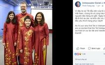 Gia đình đại sứ Mỹ 'khoe' áo dài đón Tết Việt