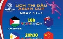 Lịch trực tiếp Asian Cup 2019 ngày 11-1