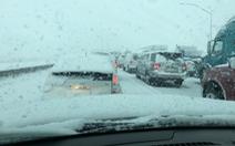 Dân California vui mừng khi thấy tuyết rơi, mưa lớn