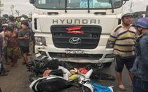 Xe container tông 21 xe máy còn hạn kiểm định đến tháng 3-2019