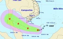 Bão số 1 đang tiến gần bờ các tỉnh Nam Bộ