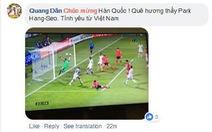 CĐV Việt áp đảo lời chúc mừng tuyển Hàn Quốc