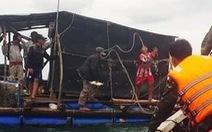 Bão làm chìm nhiều vỏ máy, hư hỏng bè cá ở đảo Hòn Chuối