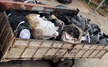 Bắt quả tang hàng chục tấn chất thải nguy hại vận chuyển trái phép